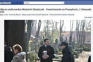 Wojciech Olejniczak lansuje się na Powązkach