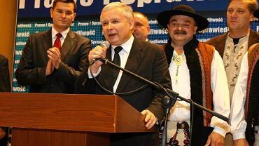 Jarosław Kaczyński na konwencji w Nowym Targu