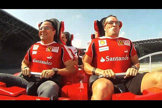 Felipe Massa i Fernando Alonso w Parku Ferrari
