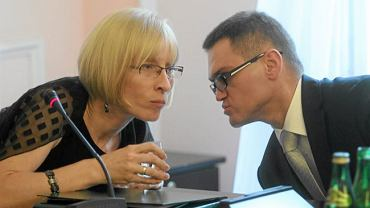 Mecenas Rogalski i Beata Gosiewska na posiedzeniu zespołu PiS ws. wyjaśnienia katastrofy Tu-154