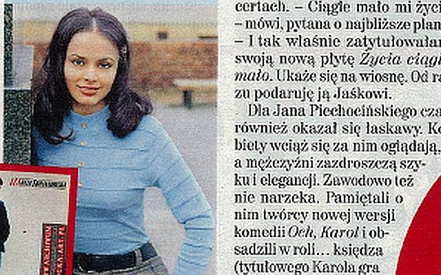 Izabela Trojanowska jako 18-latka.