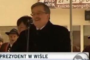 Prezydent Bronisław Komorowski w Wiśle.