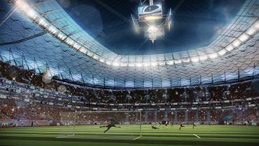 Wizualizacja Stadionu Narodowego podczas meczu