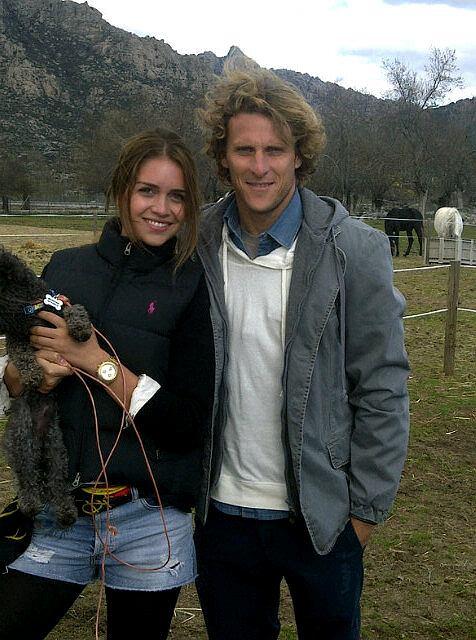 Diego Forlan i jego dziewczyna Zaira Naira