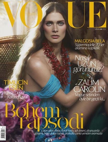 Małgosia Bela na okładce Vogue Turkey kwiecień 2011