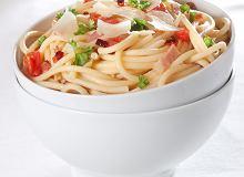 Spaghetti amatrice z boczkiem i chilli - ugotuj