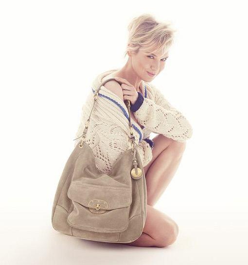 Renee Zellweger reklamuje torebki Tommy Hilfiger i walczy z rakiem piersi