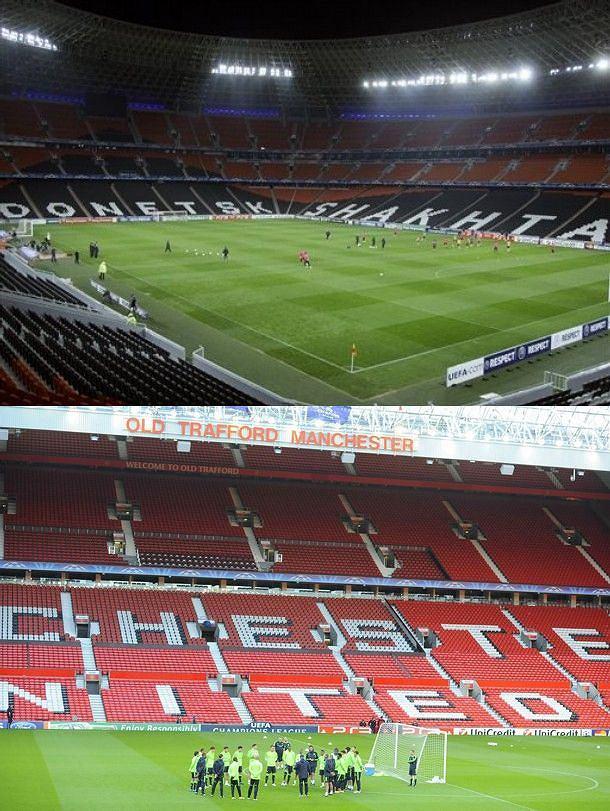 Donbas Arena, Old Trafford