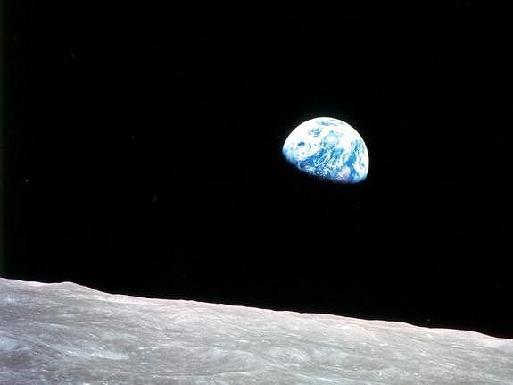 Zdjęcia Ziemi i Księżyca wykonane przez załogę Apollo 8, 24 grudnia 1968 fot. NASA