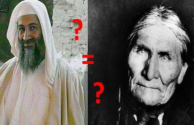Geronimo ben Laden, czy Osama Apacz? Twardy orzech do zgryzienia.