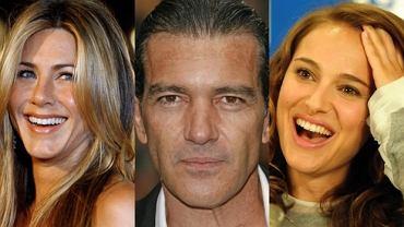 Jennifer Aniston, Antonio Banderas, Natalie Portman.