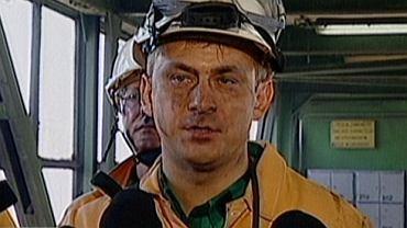 Grzegorz Napieralski w kopalni Zofiówka