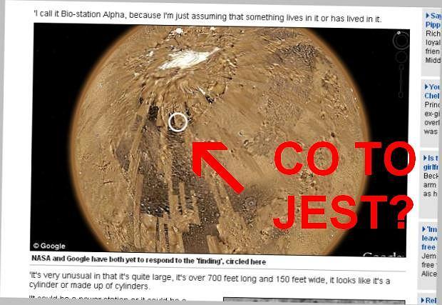 Domniemane odkrycie na Marsie. Tajna baza?