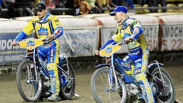 Dla Barka Zmarzlika (z lewej) mistrz Tomasz Gollob (z prawej) jest wzorem i znakomitym nauczycielem