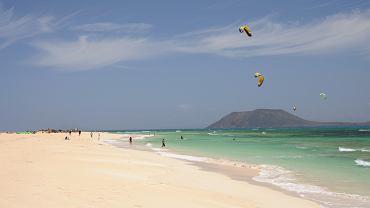 Plaża Corralejo, Fuerteventura,  Wyspy Kanaryjskie