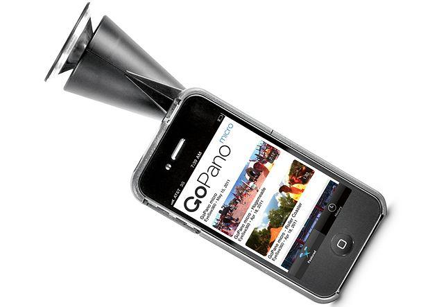 Obiektyw nakładany na kamerę w iPhonie 4 daje użytkownikowi te same możliwości, czyli oczy dookoła głowy