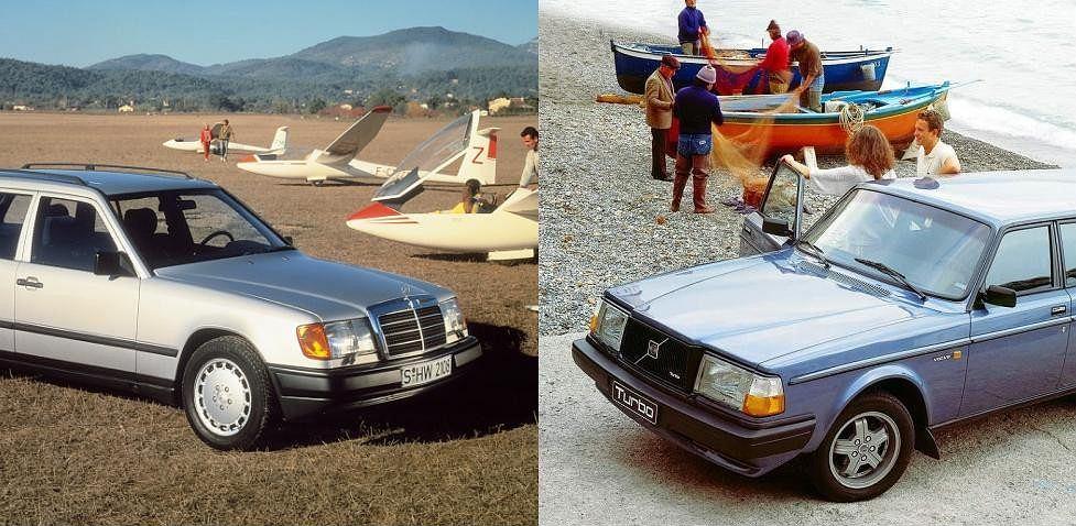 Mercedes E vs Volvo 240