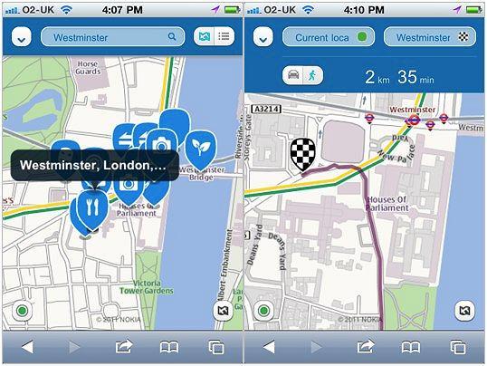 Nokia Maps na iPhone