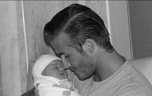 David Beckham z Harper Seven dzieci gwiazd