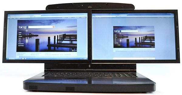 SpaceBook - laptop z dwoma 17-calowymi ekranami