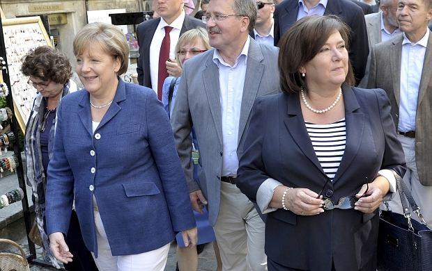 Angela Merkel, Prezydent Bronisław Komorowski i Anna Komorowska.