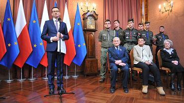Spotkanie Mateusza Morawieckiego z przedstawicielami Polskiego Towarzystwa Sprawiedliwych Wśród Narodów Świata