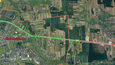 Zablokowana dk2 na trasie Biała Podlaska - Terespol