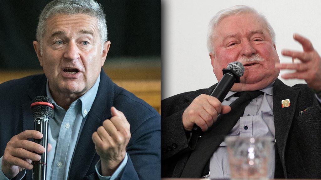 Władysław Frasyniuk i Lech Wałęsa