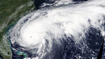 Zdjęcie satelitarne huraganu Humberto.