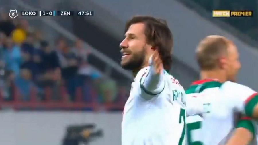Grzegorz Krychowiak w barwach Lokomotiwu Moskwa