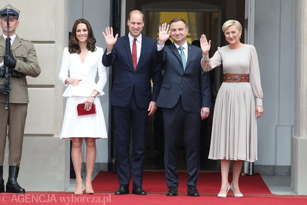 Księżna Kate, książę William, Andrzej Duda i Agata Duda