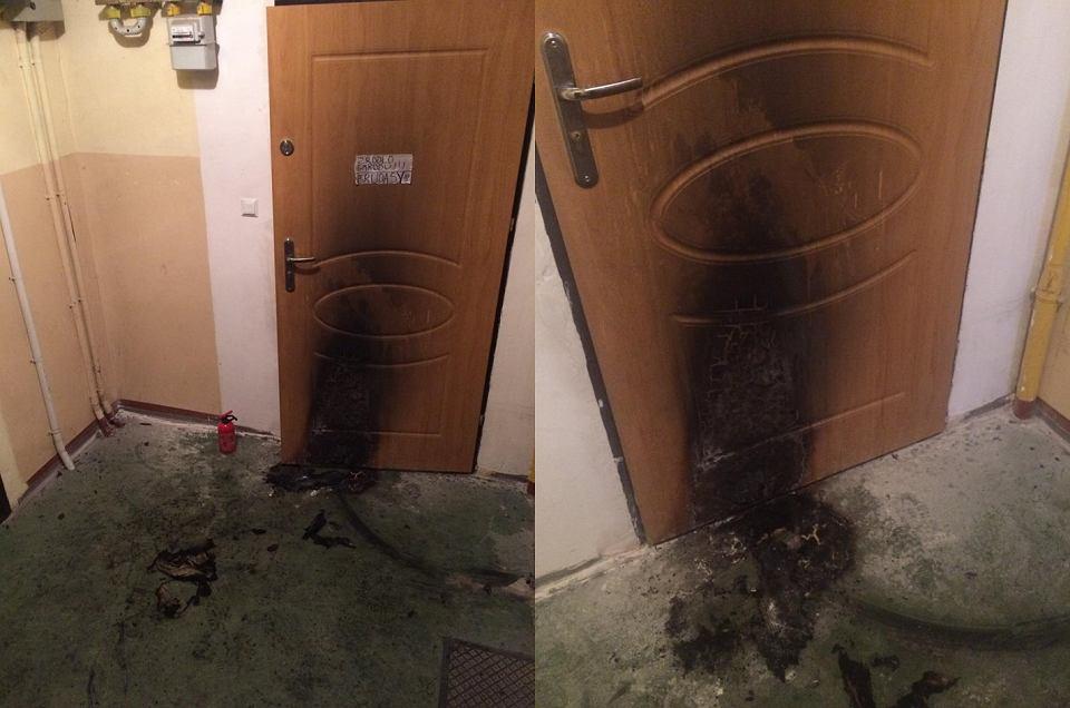 Ktoś próbował podpalić mieszkanie należące do koordynatorki międzynarodowego projektu 'Brave Kids'. Sprawca zostawił karteczkę z napisem 'Źródło smrodu - brudasy'.