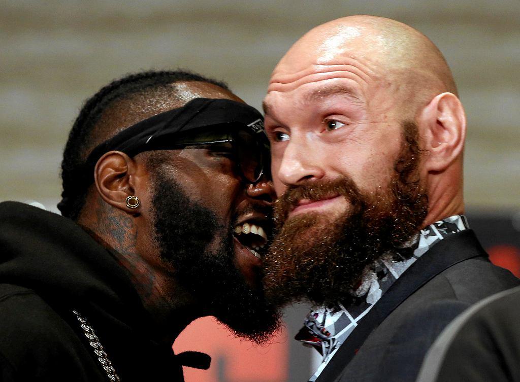 Deontay Wilder (z lewej) i Tyson Fury