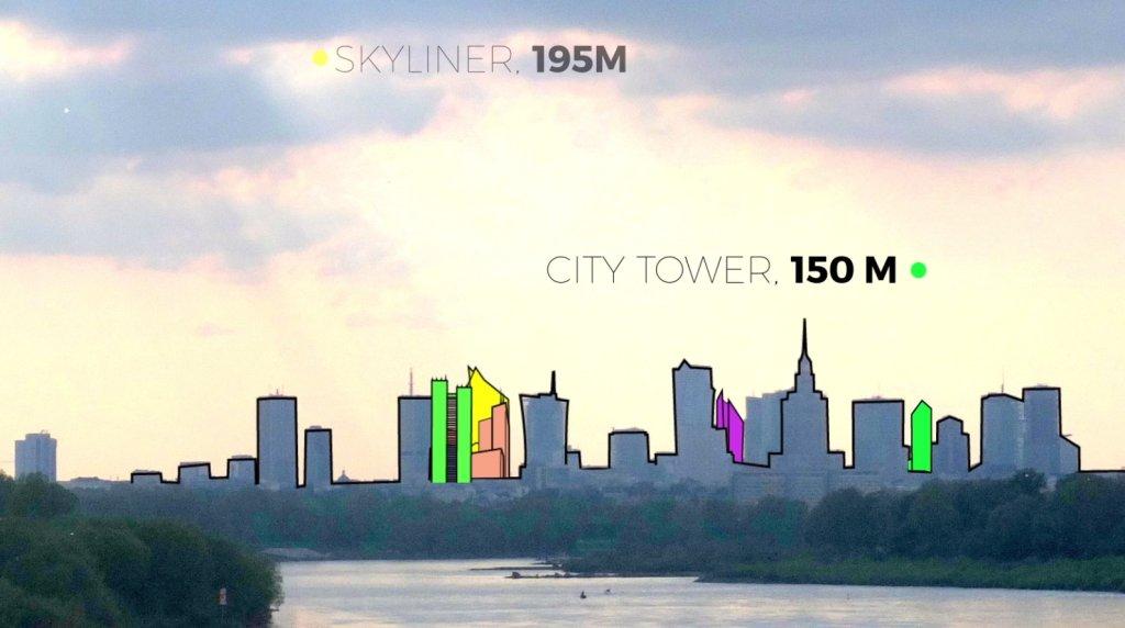 panorama wieżowców
