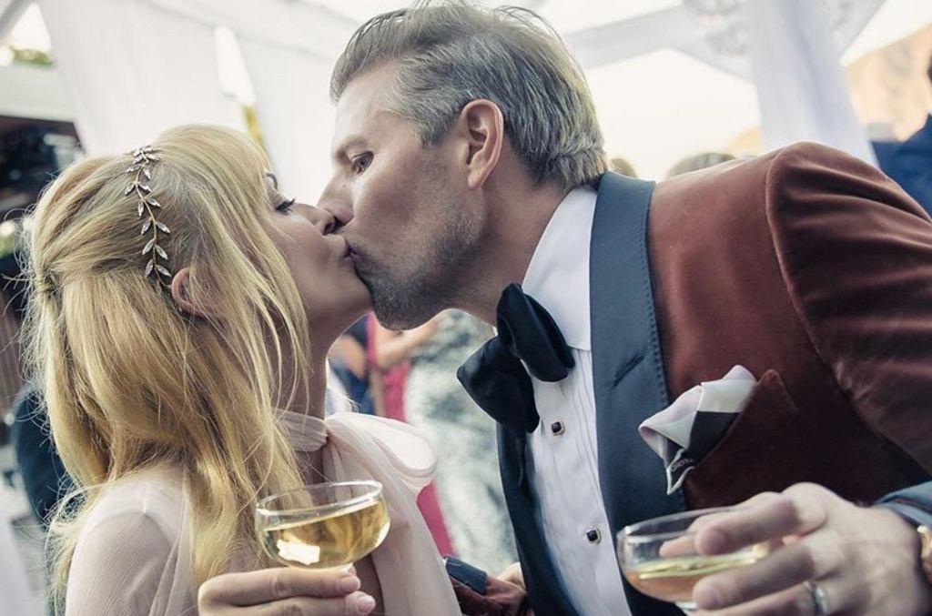 Izabella Scorupco z mężem