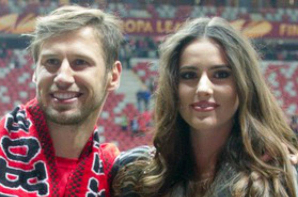 Grzegorz Krychowiak i Celia Jaunat