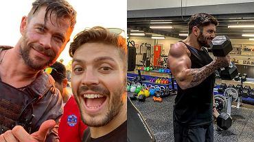 Luke Zocchi trenuje z Chrisem Hemsworthem