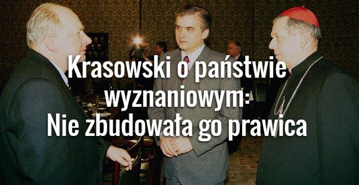 Krasowski o państwie wyznaniowym
