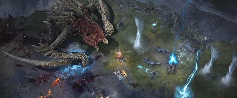 Kolejne wideo z Diablo 4. Drużyna graczy walczy z olbrzymim bossem
