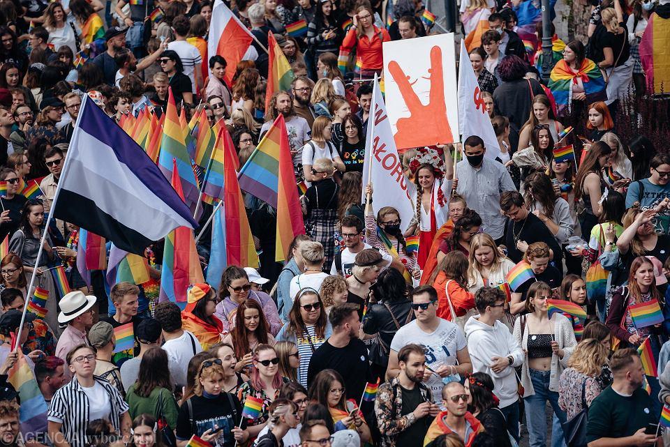 VI Trójmiejski Marsz Równości pod hasłem 'Mamy tylko jedno zycie', 21 sierpnia 2021, Gdańsk