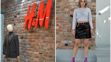 Kolekcja H&M Studio trafi do sklepów 14 września. Obejrzałyśmy i zmierzyłyśmy ją w showroomie marki. Na zdj. po prawej - spódnica z lakierowanej wełny, 299 zł.