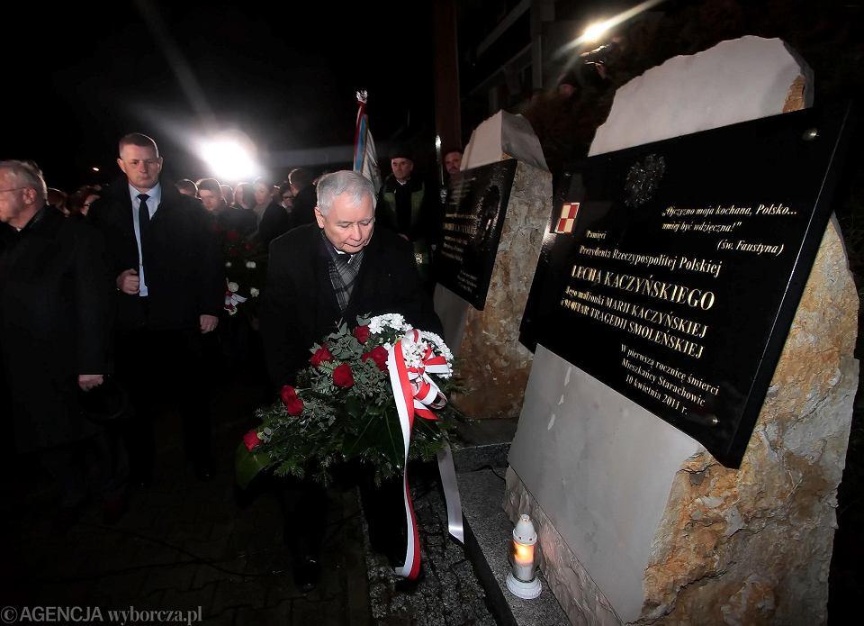Starachowice, 16 stycznia 2019. Jarosław Kaczyński na mszy w intencji swojej matki