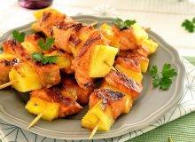 Szaszłyki łososiowo-ananasowe - ugotuj