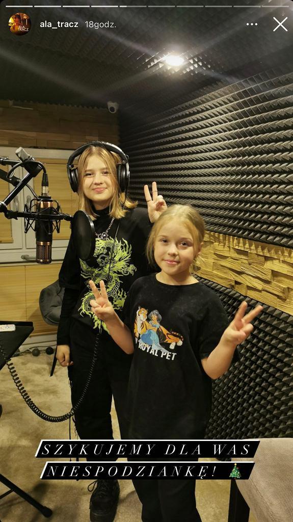 Ala Tracz z siostrą Olą