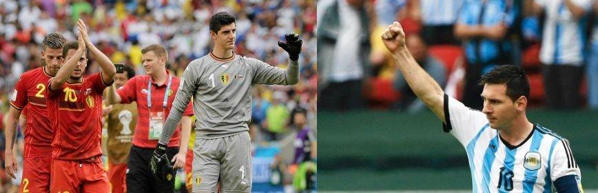 Thibaut Courtois (po lewej) i Lionel Messi