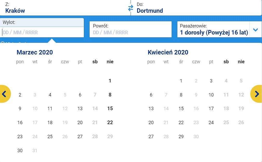 Loty z Krakowa do Dortmundu
