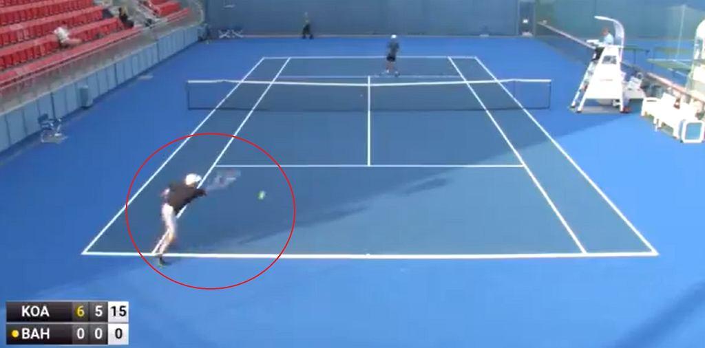 Tenisista z Ukrainy nie zdobył nawet punktu