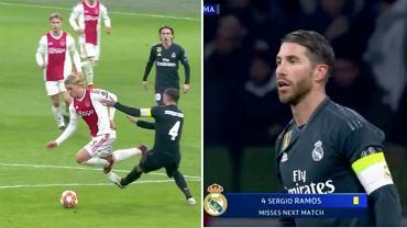 Sergio Ramos w meczu Ligi Mistrzów Ajax - Real Madryt