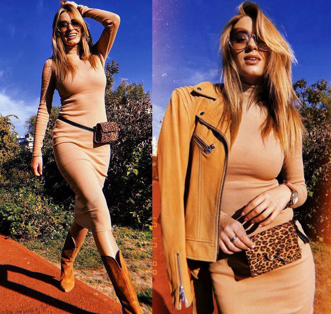 Marcelina Zawadzka w ołówkowej sukience