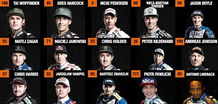Grafika żużlowców z cyklu Grand Prix